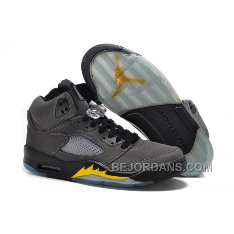 Big Discount! Air Jordan V(5) \u201cOregon Ducks Away\u201d Grey Suede ...